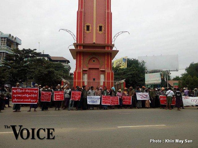 နွေစပါး အထွက်လျော့၍ မျိုးစေ့ကုမ္ပဏီကို လယ်သမားများ ဆန္ဒပြ
